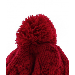 Bonnet Acrylique et doublure polaire saki rouge - Capcho