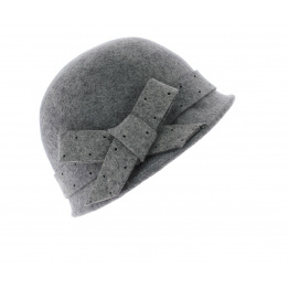Chapeau cloche Christy - Gris