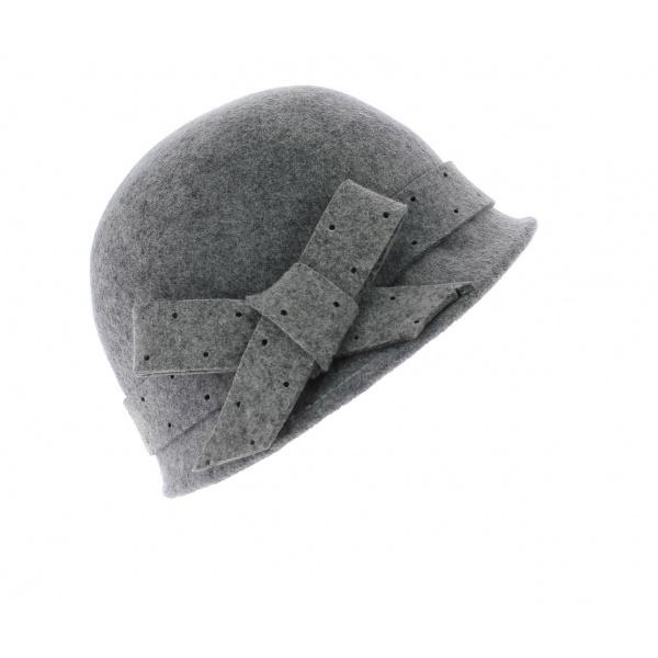 Chapeau cloche Christy - Gris