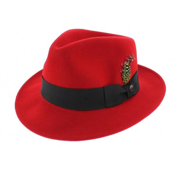 Chapeau Fedora Rouge Pachuco - Jaxon - Chapeau Traclet d6a935fa6ae