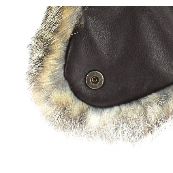 Chapka Ingo rabbit leather - Gena