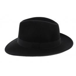 Chapeau Fedora Feutre Laine Noir Imperméable - Traclet