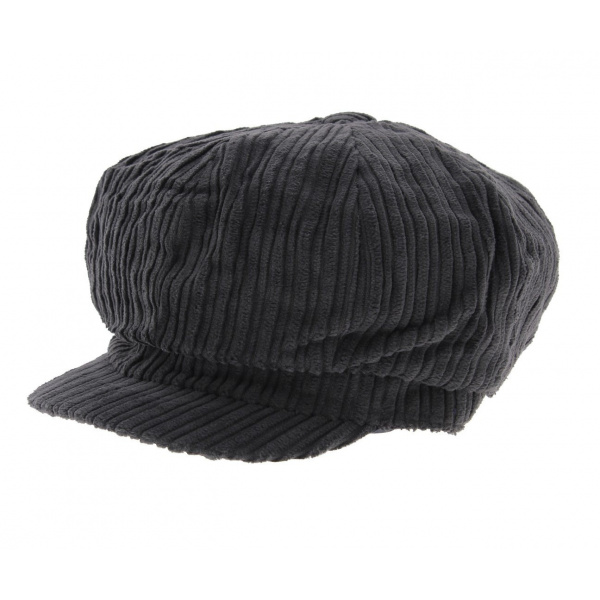 Casquette Gavroche Velours Gris - Traclet
