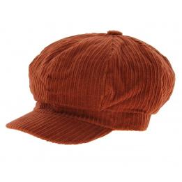 Cap gavroche velvet Rust - Traclet
