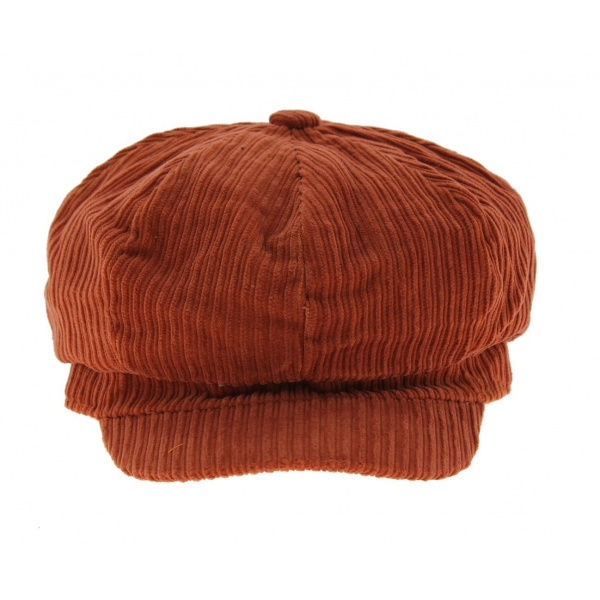 Casquette gavroche velours Rouille - Traclet