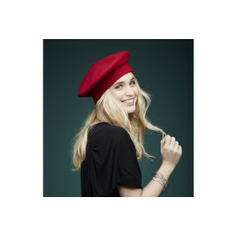 Beret Parisienne Héritage by Laulhère - Rouge Hermès