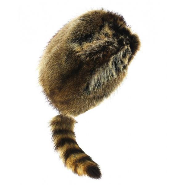 toujours populaire dans quelques jours en arrivant Bonnet Trappeur Fourrure raton-laveur - Gena