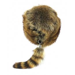 Bonnet Trappeur Fourrure raton-laveur - Gena