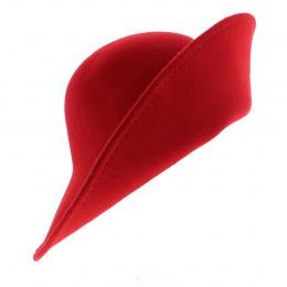 Chapeau Cloche Multi-Formes Feutre laine Rouge - Scala