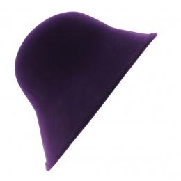 Chapeau Cloche Multi-Formes Feutre laine Prune - Scala