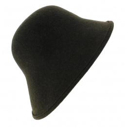 Chapeau Cloche Multi-Formes Feutre laine Olive - Scala