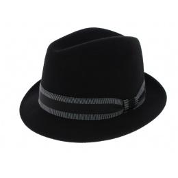 Jazzy Jazzy Wool Felt Trilby Hat - Black - Aussie Apparel