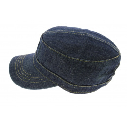 Casquette Army Dirty Denim Jean Délavé - Atlantis