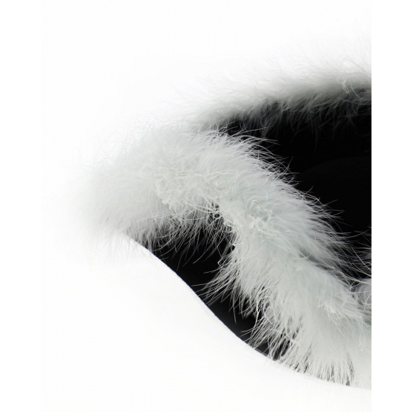 Tricorne Marabout blanc