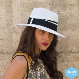 Chapeau Traveller Anja Monochrome Noir&Blanc - Rigon Headwear