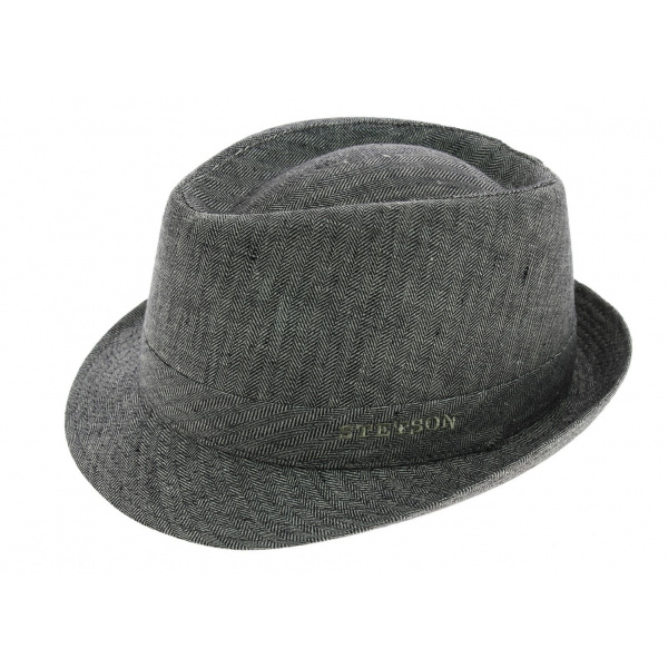 Chapeau Osceola trilby en lin noir   Stetson
