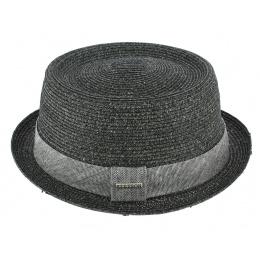 Robston Toyo Anthracite Porkpie Hat - Stetson