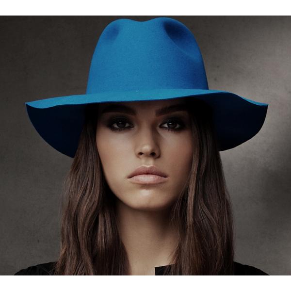 Chapeau Traveller Inglis Feutre Laine Bleu Électrique - Bailey