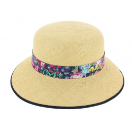 Chapeau Cloche Eleanor Panama Naturel - Christys