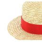 Children boater hat red