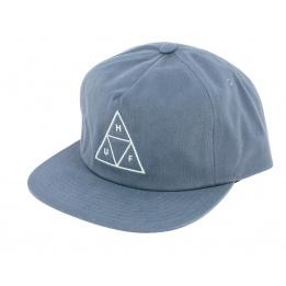 Light Blue Cotton Triangle Snapback Cap - Huf