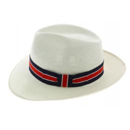 Fedora Regimental Panama Hat Natural Panama Hat - Christy