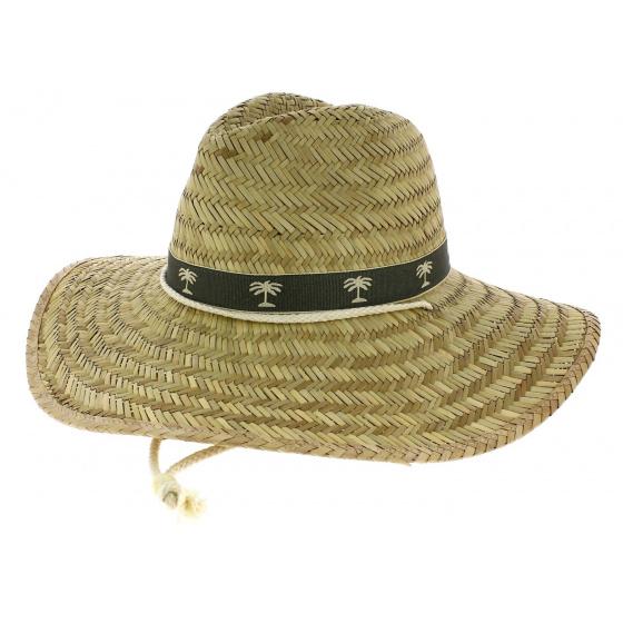 Saona Straw Natural Straw Traveller Wide Brim Hat - Broner