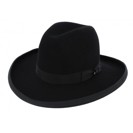Sheridan Hat Black Felt Bison - Stetson