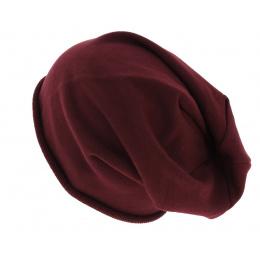 Oversize Brooklin Bordeaux Cotton Hat - Atlantis