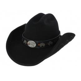 Jesse Cowboy Hat Black Wool Felt - Bullhide