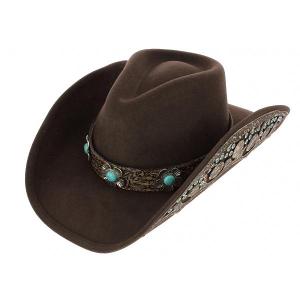 Chapeau de Cowboy Sweet Emotion Feutre - Bullhide