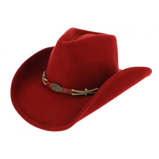 Chapeau Cowboy Emotionally Charged Feutre Rouge - Bullhide