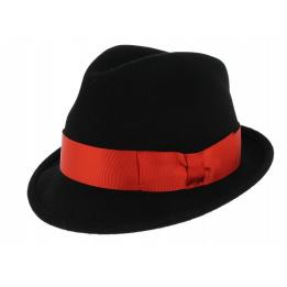 Chapeau Trilby Dilinger Feutre Laine Noir Pliable - Traclet