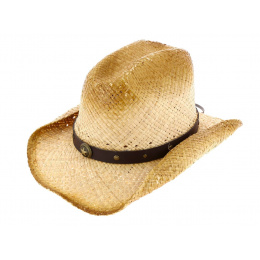 Cowboy Rising Star Hat Natural Straw - Bullhide
