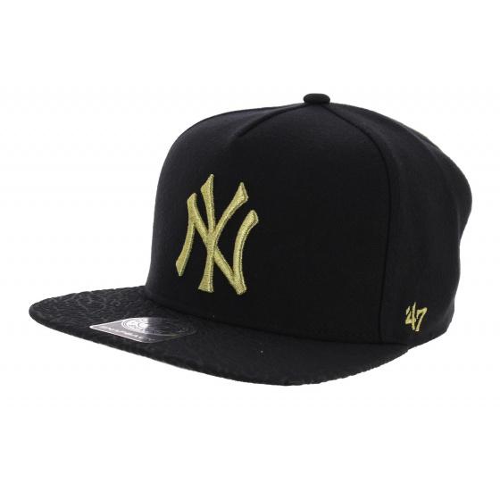 Snapback Visière Craquelée NY Yankees Noir & Or - 47 Brand