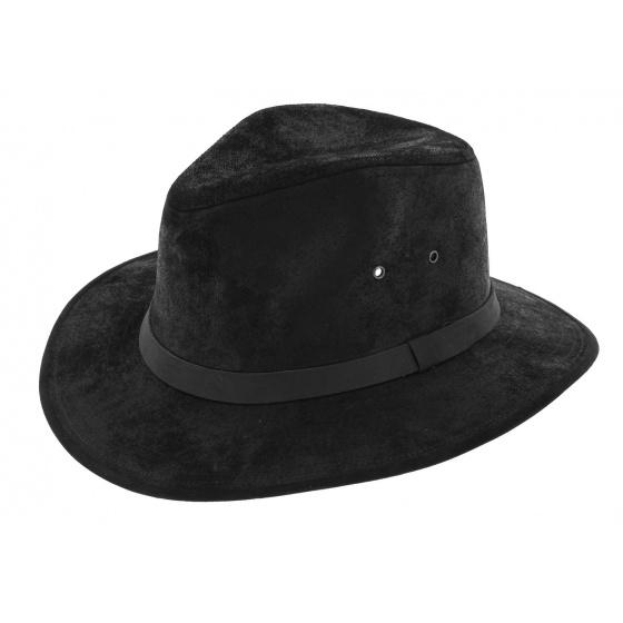 Traveller Flinder Hat Black Leather - Traclet