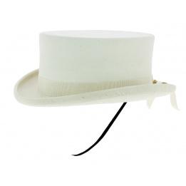 Chapeau Amazone Feutre Poil Blanc - Guerra 1855