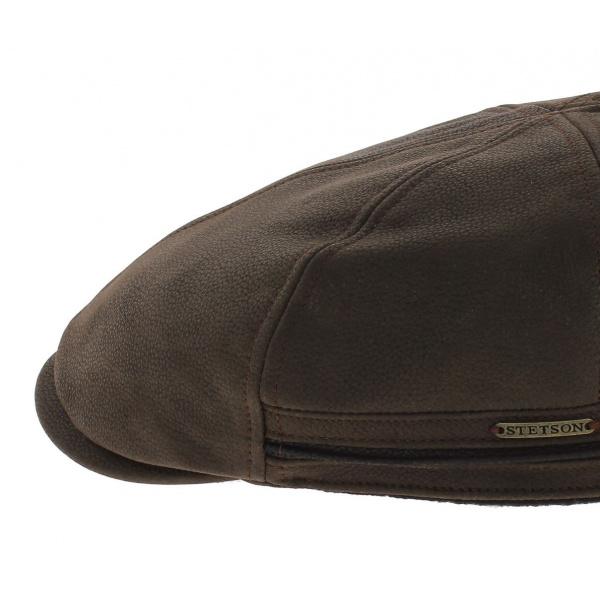 Casquette Redding cuir stetson cache-oreilles marron