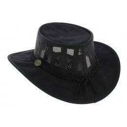 Australian Foldaway Cooler Hat Black - Barmah
