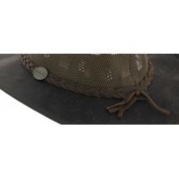 Chapeau Australien Foldaway Cooler Marron Huilé - Barmah