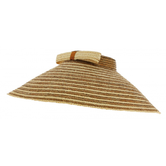 Wulan Chinese Hat Two-tone Straw - Traclet