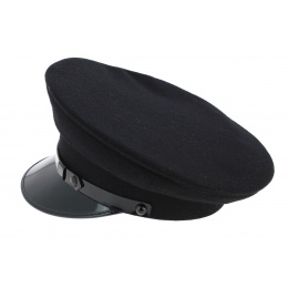 Casquette de Chauffeur Laine Noir - Mtm