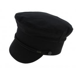 Black Cotton Padock Navy Cap - Traclet