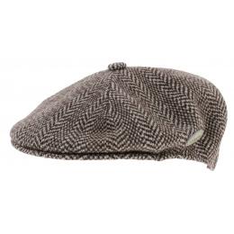 Casquette Wool Herringbone Marron - Kangol