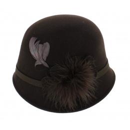 Chapeau cloche marron année 30