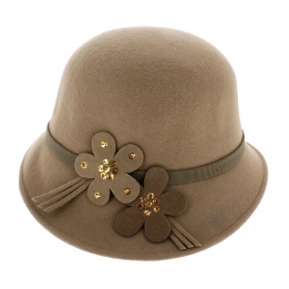 Chapeau cloche beige Maithe