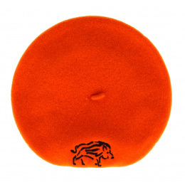 Boar Hunter Orange Beret- Le Béret Français