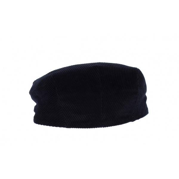 Flat velvet cap -marine