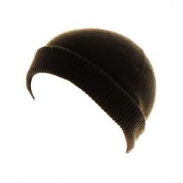 Bonnet cachemire classique marron