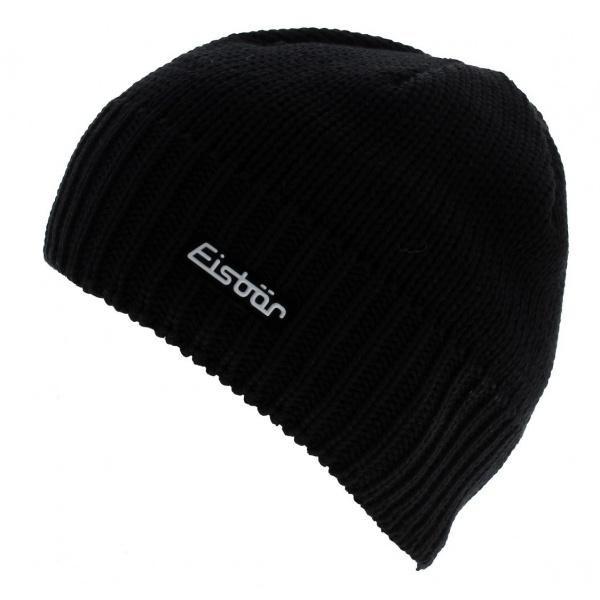 Bonnet à Pompon Laine Noir Marus - Eisbär
